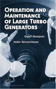 Operation And Maintenance Of Large Turbo-         Generators-cover