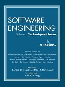 Software Engineering, Volume 1: The Development Process, 3/e-cover