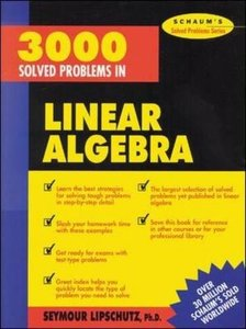 3,000 Solved Problems in Linear Algebra-cover
