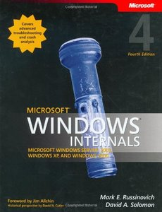 Microsoft Windows Internals: Microsoft Windows Server 2003, Windows XP, and Windows 2000, 4/e-cover