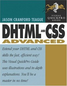 DHTML and CSS Advanced: Visual QuickPro Guide-cover