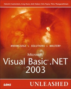 Microsoft Visual Basic .NET 2003 Unleashed-cover