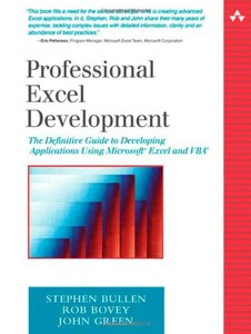 Professional Excel Development: The Definitive Guide to Developing Applications Using Microsoft Excel and VBA-cover