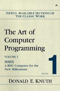 The Art of Computer Programming, Volume 1, Fascicle 1: MMIX -- A RISC Computer for the New Millennium (Paperback)-cover