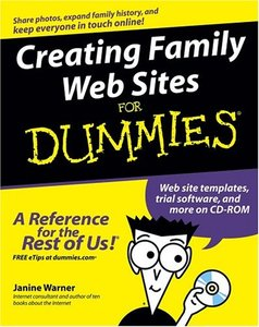 Creating Family Web Sites For Dummies-cover