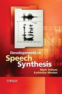 Developments in Speech Synthesis-cover
