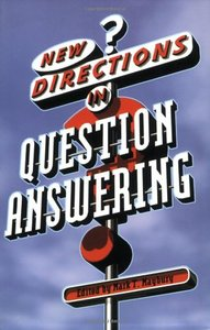 New Directions in Question Answering (Paperback)-cover