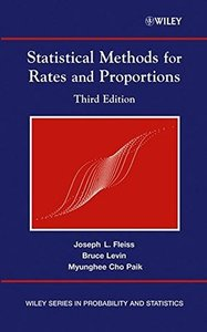 Statistical Methods for Rates & Proportions, 3/e-cover