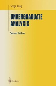 Undergraduate Analysis, 2/e (Hardcover)-cover