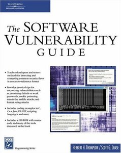 The Software Vulnerability Guide-cover