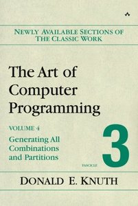 The Art of Computer Programming, Volume 4, Fascicle 3: Generating All Combinations and Partitions-cover