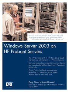 Windows Server 2003 on HP ProLiant Servers-cover