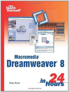 Sams Teach Yourself Macromedia Dreamweaver 8 in 24 Hours-cover