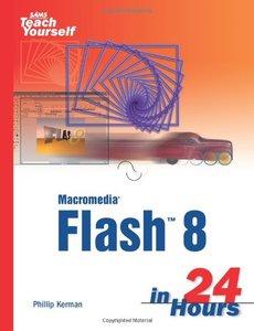 Sams Teach Yourself Macromedia Flash 8 in 24 Hours-cover