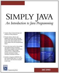 Simply Java: An Introduction to Java Programming (Paperback)-cover
