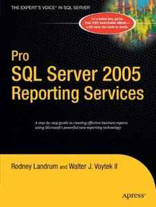 Pro SQL Server 2005 Reporting Services (Paperback)-cover