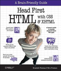 Head First HTML with CSS & XHTML (Paperback)-cover