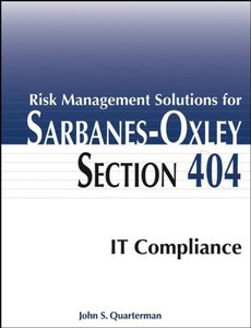Risk Management Solutions for Sarbanes-Oxley Section 404 IT Compliance-cover