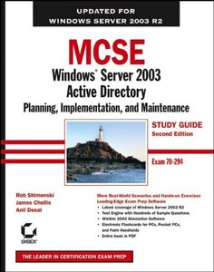 MCSE: Windows Server 2003 Active Directory Planning, Implementation, and Maintenance Study Guide (70-294), 2/e-cover