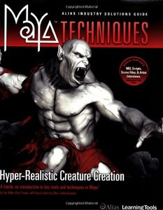 Maya Techniques: Hyper-Real Creature Creation (Paperback)-cover