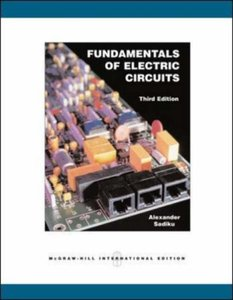 Fundamentals of Electric Circuits, 3/e (IE)-cover
