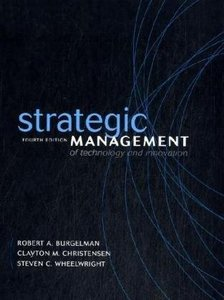 Strategic Management of Technology and Innovation, 4/e-cover