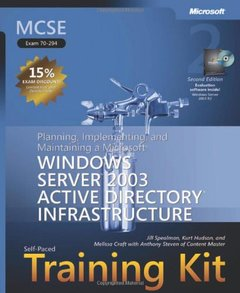 MCSE Self-Paced Training Kit (Exam 70-294): Planning, Implementing, and Maintaining a Microsoft Windows Server 2003 Active Directory Infrastruct, 2/e (Hardcover)-cover