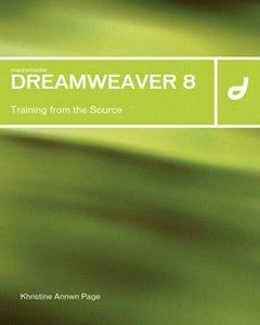 Macromedia Dreamweaver 8: Training from the Source-cover