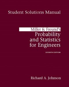Miller And Freund's Probability And Statistics For Engineers: Student Solutions Manual, 7/e (Paperback)-cover