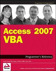 Access 2007 VBA Programmer's Reference, 2/e-cover