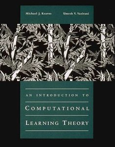 An Introduction to Computational Learning Theory-cover