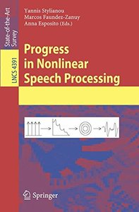 Progress in Nonlinear Speech Processing (Lecture Notes in Computer Science) (Paperback