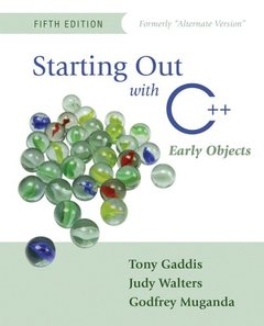 Starting Out with C++: Early Objects, 5/e-cover
