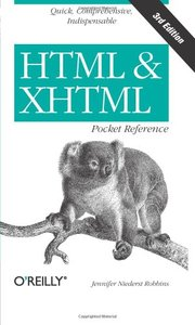 HTML and XHTML Pocket Reference, 3/e-cover