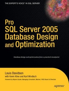 Pro SQL Server 2005 Database Design and Optimization (Paperback)-cover