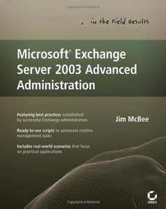 Microsoft Exchange Server 2003 Advanced Administration-cover