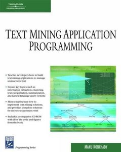 Text Mining Application Programming (Paperback)-cover