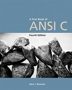 A First Book of ANSI C, 4/e-cover