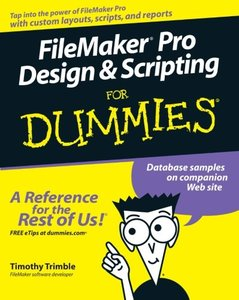 FileMaker Pro Design & Scripting For Dummies (Paperback)-cover