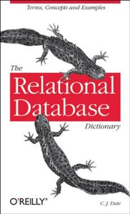 The Relational Database Dictionary (Paperback)-cover