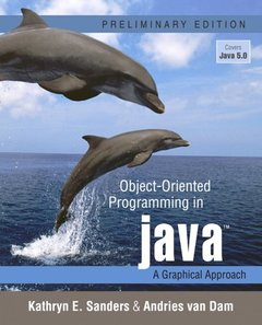 Object-Oriented Programming in Java: A Graphical Approach, Preliminary Edition (Paperback)-cover