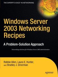 Windows Server 2003 Networking Recipes (Paperback)-cover