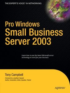 Pro Windows Small Business Server 2003 (Paperback)-cover