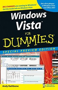Windows Vista For Dummies, Special Preview Edition-cover