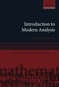 Introduction to Modern Analysis (Oxford Graduate Texts in Mathematics) (Paperback)-cover