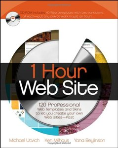 1 Hour Web Site: 120 Professional Templates and Skins-cover