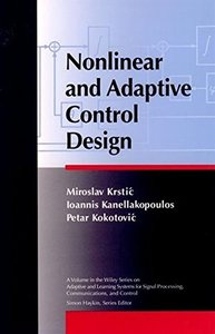 Nonlinear and Adaptive Control Design-cover