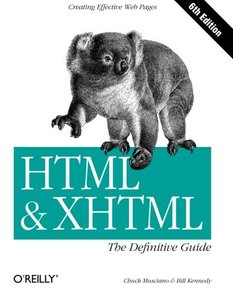 HTML & XHTML: The Definitive Guide, 6/e (Paperback)-cover