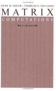 Matrix Computations, 3/e-cover