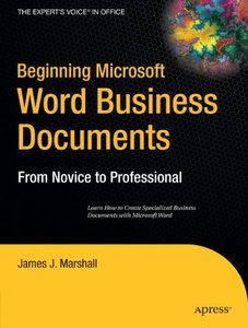 Beginning Microsoft Word Business Documents (Paperback)-cover